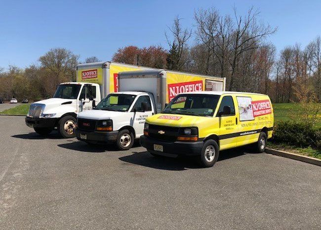 NJ Office Depot - Fleet of Delivery Trucks
