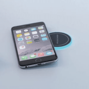 wireless charger on table